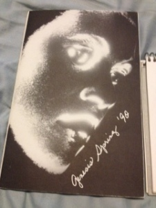 The cover of genesis Spring 1990--clearly mine was not the only creepy material.